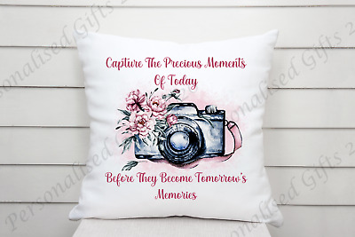 £10 • Buy Photographer/Vlogging Lovely Memories Quote Cushion Cover 40x40cm Home Decor