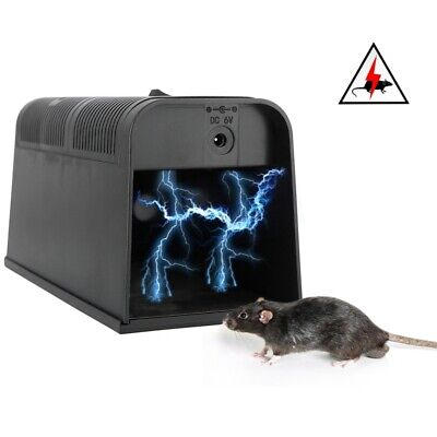Electronic Mouse Trap Pest Control Poison-Free Rat Killer Mice Rodent Zapper UK • 19.95£