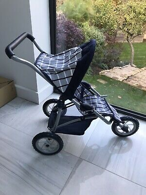 Fantastic Mamas And Papas Navy & White 3 Wheeler DOLLS Stroller / Buggy / Pram  • 20£