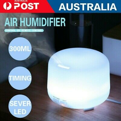 AU24 • Buy 500ml Essential Air Mist Oil Aroma Diffuser Ultrasonic Humidifier Aromatherapy