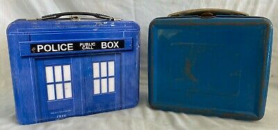£6.44 • Buy Pair Old Metal Children's / Child's Lunch Boxes Dr. Who Police Call Box & Early