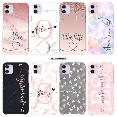 AU11.31 • Buy Personalised Phone Case Name Initials Marble Cover For Apple Iphone 11 Se 8 7 X