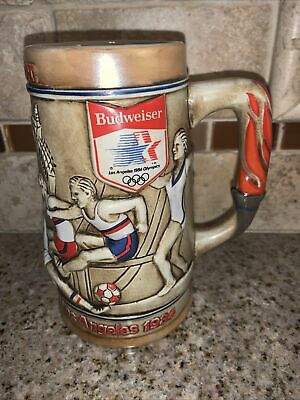 $ CDN10.47 • Buy Budweiser Los Angeles 1984 23rd Olympics Commemorative Collector's Stein #0906