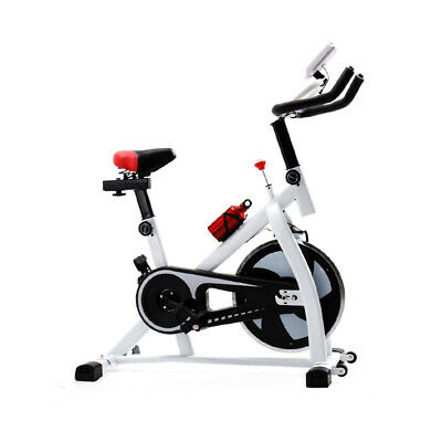 Exercise Bike Studio Cycle Indoor Training W/ Bottle -12kg Spinning Flywheel • 119£