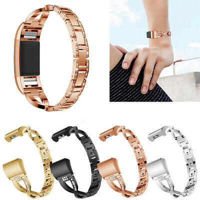 AU6.99 • Buy AU For Fitbit Charge 2 / 2 HR Lady Bling Metal Wrist Band Wristband Watch Strap