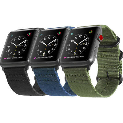 AU13.99 • Buy For IWatch Apple Watch Series 6 5 4 3 40 44mm Nylon Woven Band Strap Replacement
