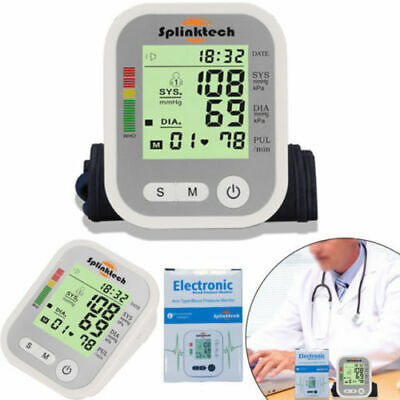 £14.99 • Buy Automatic Blood Pressure Monitor Upper Arm Digital BP Machine With Large Cuff UK