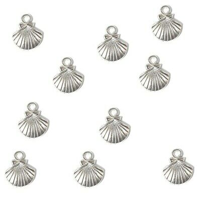 Shell Charms Tibetan Silver Pendant Pack Of 20 • 2.20£
