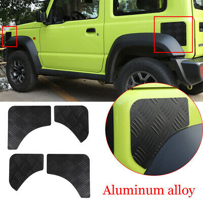 AU123.45 • Buy For Suzuki Jimny 2019-2020 Black Alloy Front Rear Fender Protector Panel Cover*4