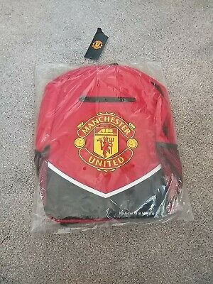 Manchester United Red School Bag Rucksack Official Product Genuine • 29.99£