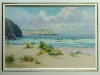 St Ives From Porthkidney Beach,Cornwall,Watercolour, Lewis Mortimer Circa 1900 • 125£