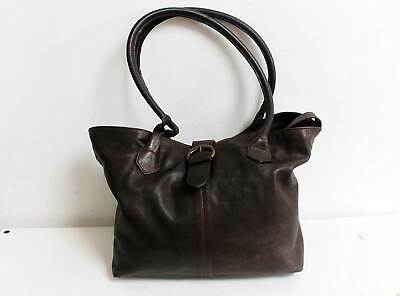 Hobbs Leather Shoulder Tote Bag Brown • 24£