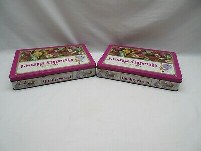 2 Vintage Oblong Square Quality Street Sweet Tins Empty • 26.50£