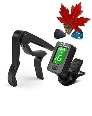 $ CDN18.85 • Buy Guitar Tuner And Guitar Capo Set, Clip-On Tuner Digital Electronic Tuner Acou...