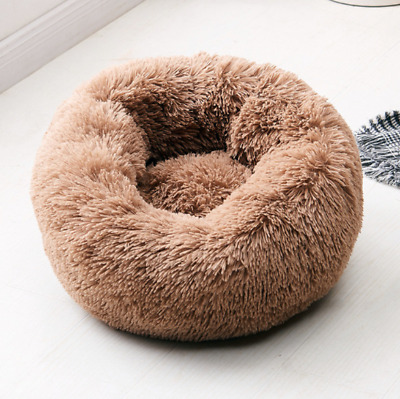 Comfy Calming Dog Cat Bed Pet Bed Round Super Soft Plush Fluffy Marshmallow S-XL • 10.78£