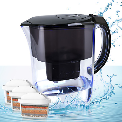 Alkaline Water Jug, Purifier Dispenser Ionizer With 3 Filters And PH Test Strips • 24.99£