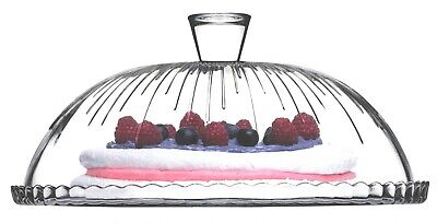 £16.99 • Buy Pasabache Glass Cake Glass Cloche Cake Stand Cake Dome Plate Cover 32cm Pattern