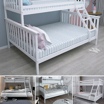 £159.99 • Buy Triple Sleeper Bunk Bed Wooden Bed Frame For Children Adults W/ Stairs,Headboard