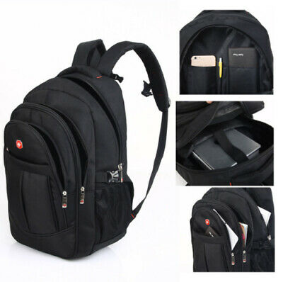 17.1  SWISS GEAR Laptop Backpack Computer Outdoor Travel School Bag Waterproof • 16.99£