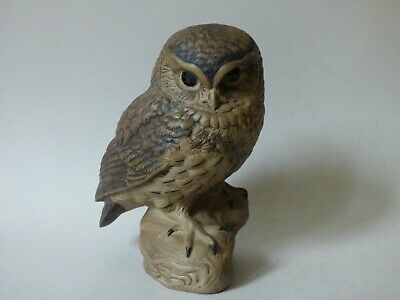 Large Rare Collectable Poole Pottery Stoneware Tawny Little Owl Bird Free Uk P+p • 46.99£