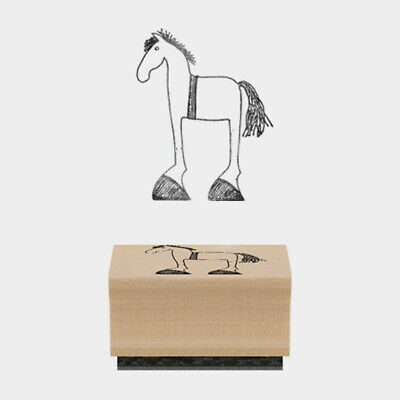 £2.49 • Buy East Of India Rubber Stamp Bessie Horse 5 X 4 X 2cm Wood Backed New
