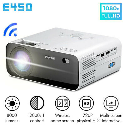 £98.98 • Buy 8000 LM HD 1080P Android WiFi 3D Mini Video Projector Home Theatre Cinema HDMI
