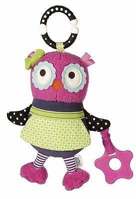BRAND NEW! Mamas & Papas Activity Pushchair Baby Travel Chime Toy - Olive Owl • 7.99£