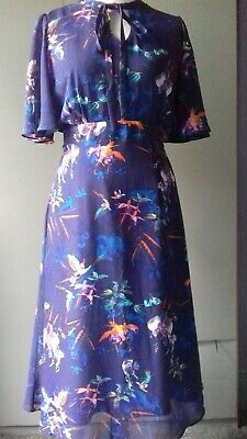 Ladies Gorgeous Dress Size 16 Joanna Hope Midi Floral Blue Bnwot • 2£