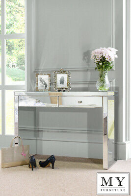 Aphrodite Venetian Mirrored Dressing Table With 2 Drawers (ID:27432) • 72£