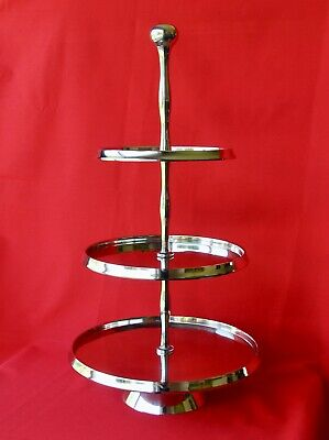 23  Three Tier  Silver-tone Cake Stand - Rrp £78.00  - Boxed & New  • 24.99£