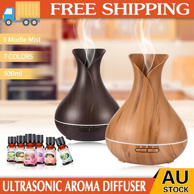 AU10.82 • Buy Aroma Diffuser Aromatherapy Ultrasonic Air Mist Humidifier Purifier LED Electric