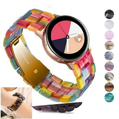 AU19.99 • Buy For Samsung Galaxy Watch 3 41 Active 2 40/44mm 42mm Resin Watch Band Steel Strap