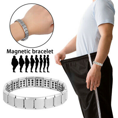 Mens Magnetic Health Bracelet Carpal Tunnel Arthritis Therapy Pain Relief UK • 3.89£