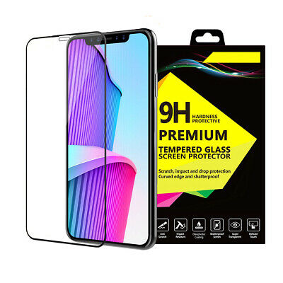 For IPhone Xs Max 9D Gorilla Tempered Glass Full Coverage Screen Protector Guard • 4.62£