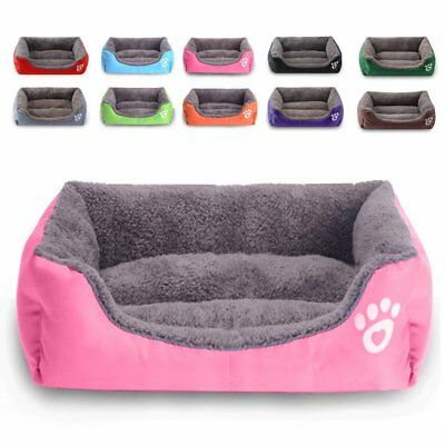 UK Pet Dog Cat Bed Mat Puppy Cushion Soft Warm House Kennel Mat Blanket Washable • 14.86£