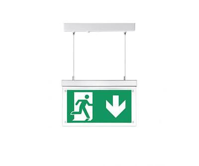 LED Hanging Emergency Exit Sign Light With 5 Legends Adjustable 3hr Maintained • 14.95£