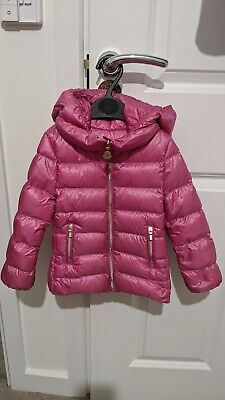 £150 • Buy Genuine Moncler Girls Puffer Puffa Pink Age 2 Hooded Jacket Down Coat 24 Months