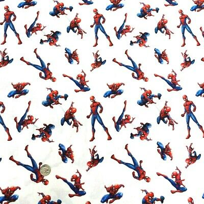 100% Cotton Digital Fabric Spiderman Superhero Comic DC Novelty 150cm Wide • 4.75£