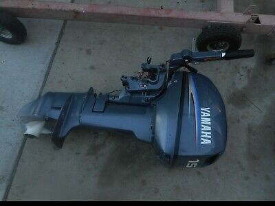 AU1 • Buy Yamaha Outboard 15 Hp  Short Shaft 2 Stroke  Wrecking All Parts From $1.00