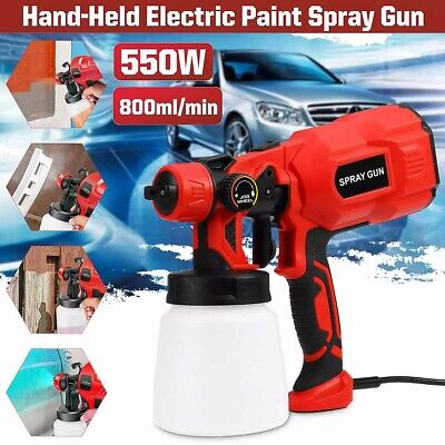 Paint Sprayer Spray Gun Airless Hvlp Electric 550w Hand Held Fence Tan System • 28.49£