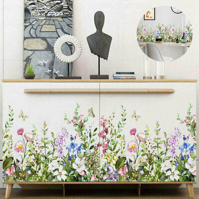 Wall Sticker DIY Home Flower Plant Decal Living Room Tropical Leaves Butterfly • 3.70£