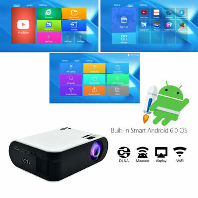 WiFi 3D Full HD 1080P LED Projector Mini Home Cinema Bluetooth VGA/USB/HDMI AV • 84.87£