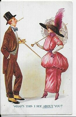 Vintage Comic Postcard,unknown Artist,pannier Series I See About You  • 3.99£