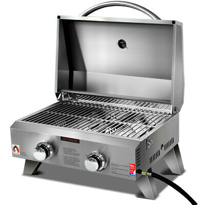 AU200.57 • Buy Grillz Portable Gas BBQ Oven 2 Burners LPG Stove Outdoor Picnic Camping Cooking