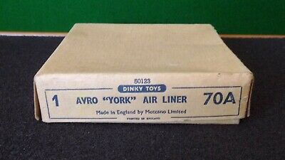 Dinky Avro  York  Air Liner  70 A  In Good Condition In Original Box  1946/1949 • 25£