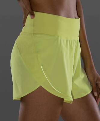 $ CDN97.92 • Buy NWT Lululemon Run Off Route High Rise Short 4 ~SIZE:12~ Lemon Vibe