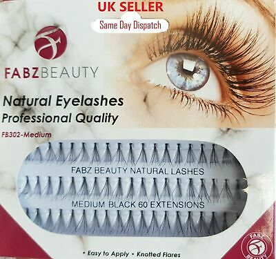 £1.99 • Buy 60 Stand Individual Flare Cluster Eyelashes Knotted False Lash Natural Looking