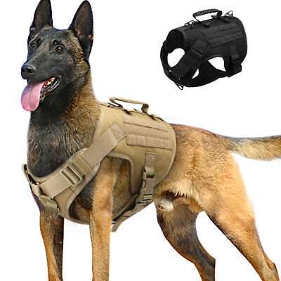 AU32.99 • Buy Tactical No Pull Dog Harness Military K9 Training MOLLE Vest Large Black Brown