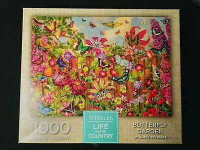 WHSMITH 1000 PIECE JIGSAW PUZZLE - LIFE IN THE COUNTRY Butterfly Garden  • 7.99£