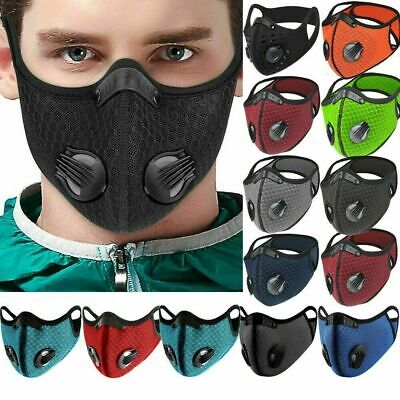 Reusable Washable Anti Pollution Face Mask PM2.5 Two Air Vent With Filter UK • 3.86£